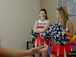 Cheerleaders Bratty Sis - BFF Catches StepBro Creaming His Sisters Pussy!