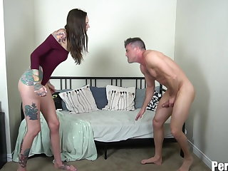 Ballbusting Emasculated for Rocky Emerson's Pussy