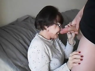 Dazzling Mature Slut Devouring A Young Cock