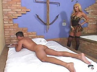 Foot Fetish Blonde shemale love fuck her guy
