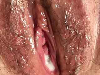 Mexican Ooozing Cum Inside My 45 yo Wife, Mother Of 3