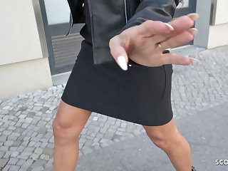 Rimjob GERMAN SCOUT - FIRST TIME ANAL FOR MILF AT STREET CASTING