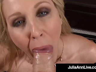 Masturbation American Woman Julia Ann Face Fucks Hard Cock Point Of View!