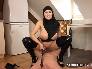 Foot Fetish STOP! Hairy MILF Doesnt Want Husbands Cock
