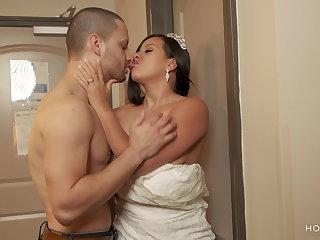 Puerto Rican Bride leaves groom planted and fucks ex boyfriend