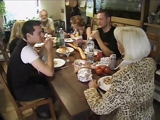 Vintage french horny family fucking one another hard film