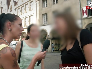 Agent EroCom Casting for german First time Threesome with camera