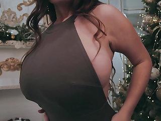Ukrainian Busty woman acting elegant