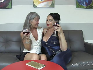 Pissing Leilani Lei and Rita Daniels Share a Big Cock