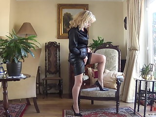 Mistress Sissy Cock Pumped By Nylon Wife