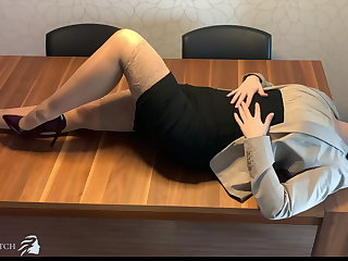 Japanese personal assistant face fucked, deep throat - business-bitch