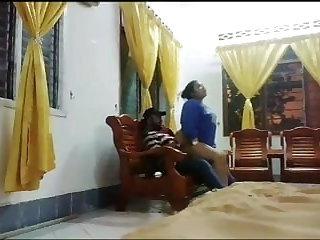 Beach Chubby Malay gets fucked