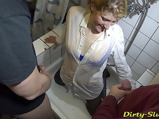 Party Pissed on by many guys at the restroom of a bar.. IN Hamburg