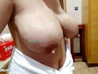 Lactating Engorged tits