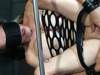 Hogtied Slut wife slave bound tied gag fuck cum in pussy creampie