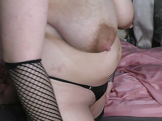 Party Goth cheating wife shows her body and creampied pussy!